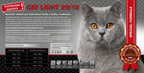 Bardog LIGHT Cat 29/12 Super premium 4 kg