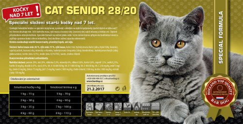 Bardog SENIOR Cat 28/20 Super prémium 1 kg