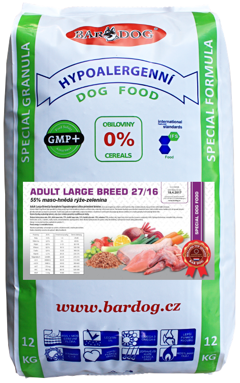 BARDOG Adult Large Breed 27/16 Ultra Prémium 12 kg