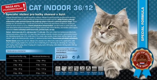 Bardog INDOOR Cat 36/12 Super premium 1 kg